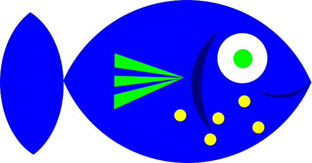 Blue Fish Clip Art : 自由研究 アイデア : 自由研究
