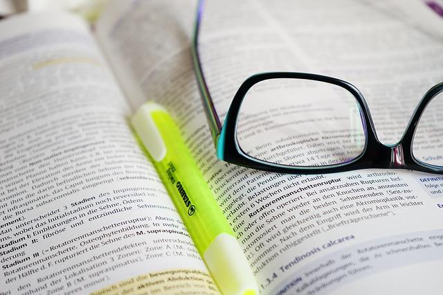眼鏡と辞書
