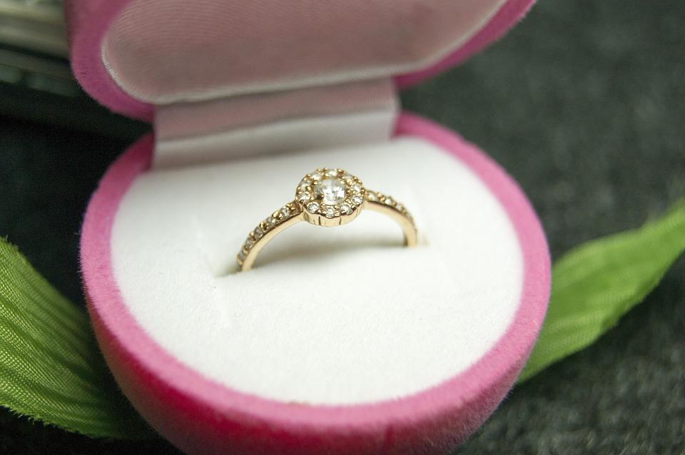 ピンク指輪